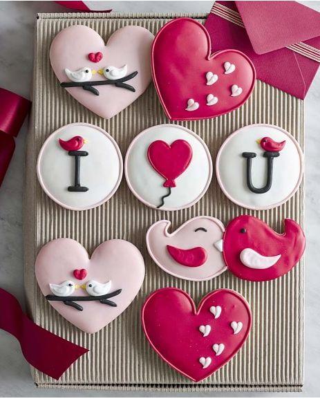 Pretty Valentine's Day cookies: