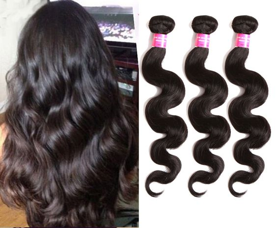 "Cheap 3Bundles Malaysian Virgin Hair Unprocessed 6A Quality Body Wave10""-30"" Hot #wigiss #HairExtension"