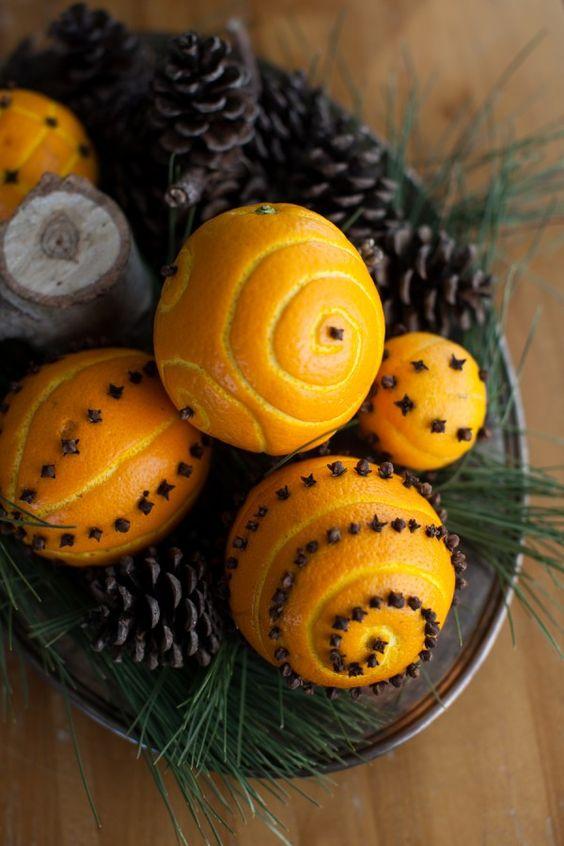 How to make spiced orange pomander balls.