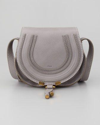chloe brand handbags - Chloe Marcie Mini Saddle Bag, Gray - Neiman Marcus | COVET ...