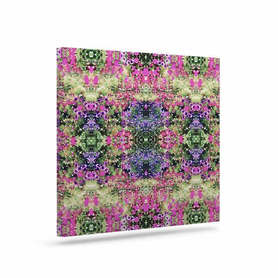 """Carolyn Greifeld """"Cascade Reflections"""" Multicolor Abstract Outdoor Canvas Art"""