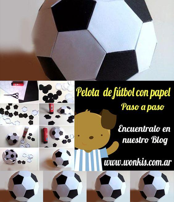 Como hacer una pelota de futbol con papel encuentralo en for Como disenar mi cuarto en 3d
