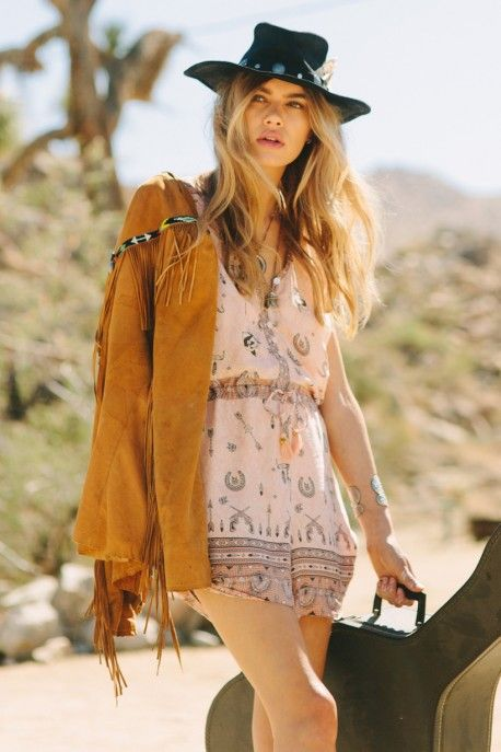 Coyote Cap Sleeve Playsuit peach SPELL & THE GYPSY COLLECTIVE