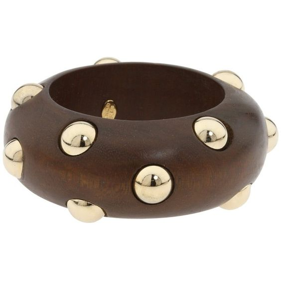 Kenneth Jay Lane - Polka-Dot Bangles (Wood/Gold) - Jewelry