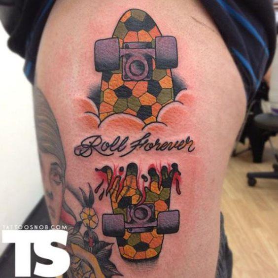 Sharply - Criatividade em Ação | Cinco tattoos inspiradoras sobre skate