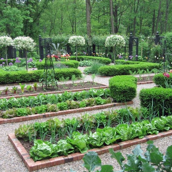 A Kitchen Garden, Or A Potager, Is A French-style