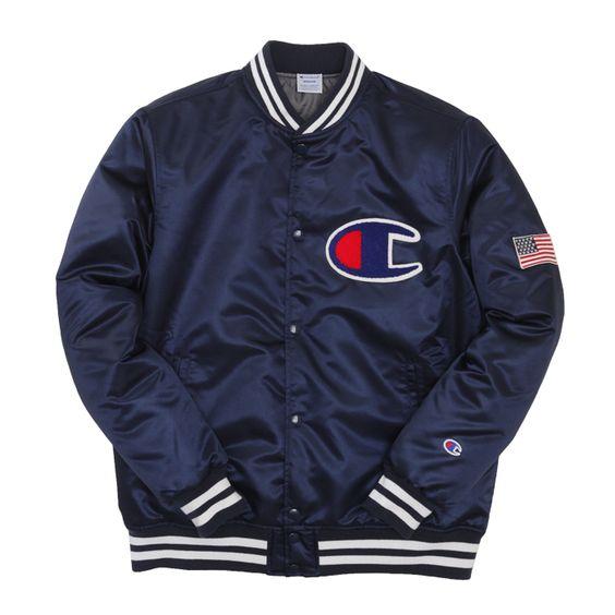 Champion Japan - Baseball Jacket (Navy) | Apparel | Pinterest