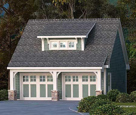 Shed dormer garage and garage house on pinterest for Craftsman style shed plans