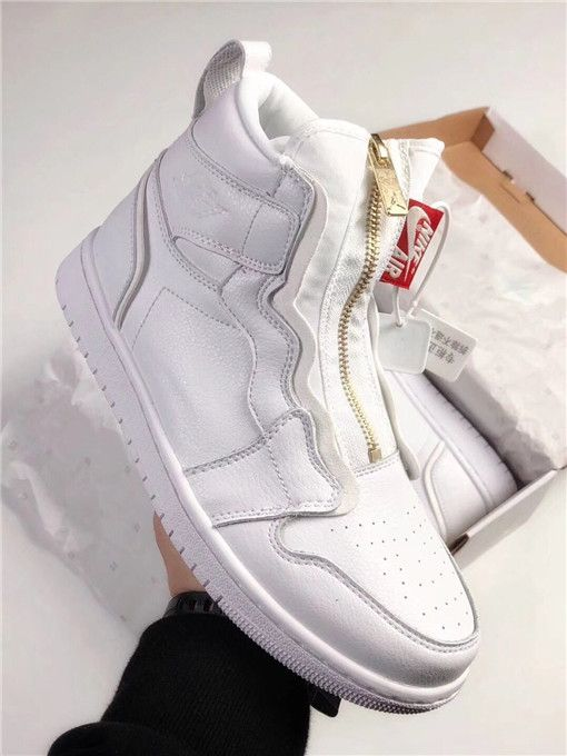 Top Air Jordan 1 Retro High Zip White