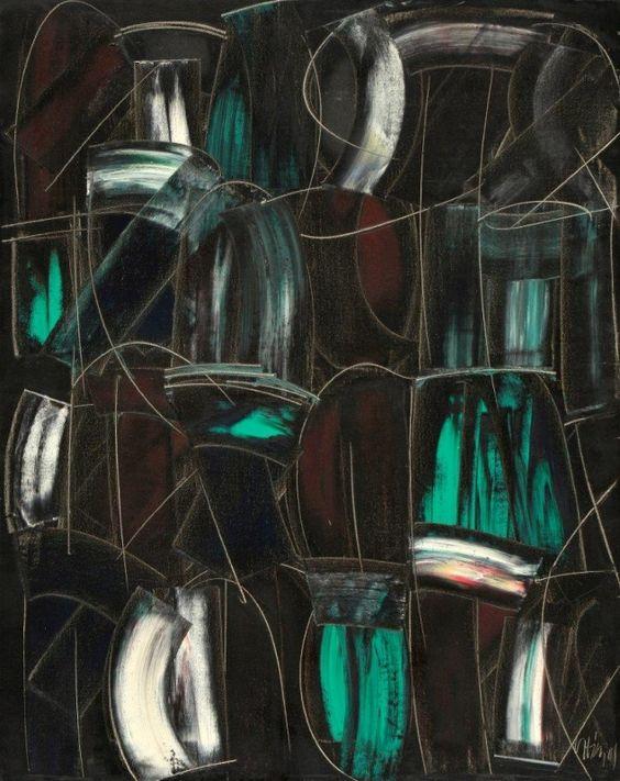 João Vieira Untitled 149)10 2001 Painting x Canvas 92 cm x 73 cm  #JoãoVieira #Artist #Art #Oil #Painting #Color #Portugal #Gallery #SaoMamede #Artwork #Lisbon