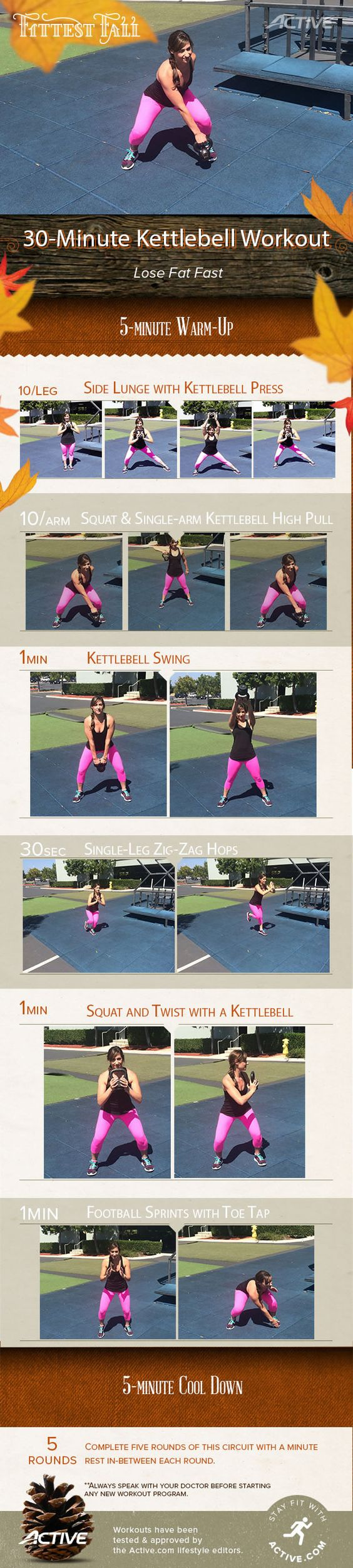 30-Minute Kettlebell Workout to Lose Fat #FittestFall