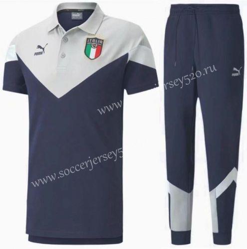 2020 2021 Italy Royal Blue Thailand Polo Uniform Hy In 2020 Royal Blue Uniform Polo
