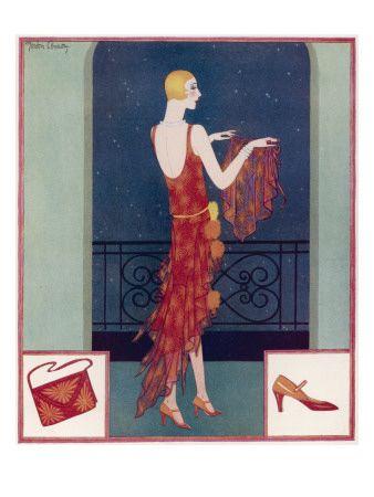 A Tatler Fashion Illustration by Gordon Conway