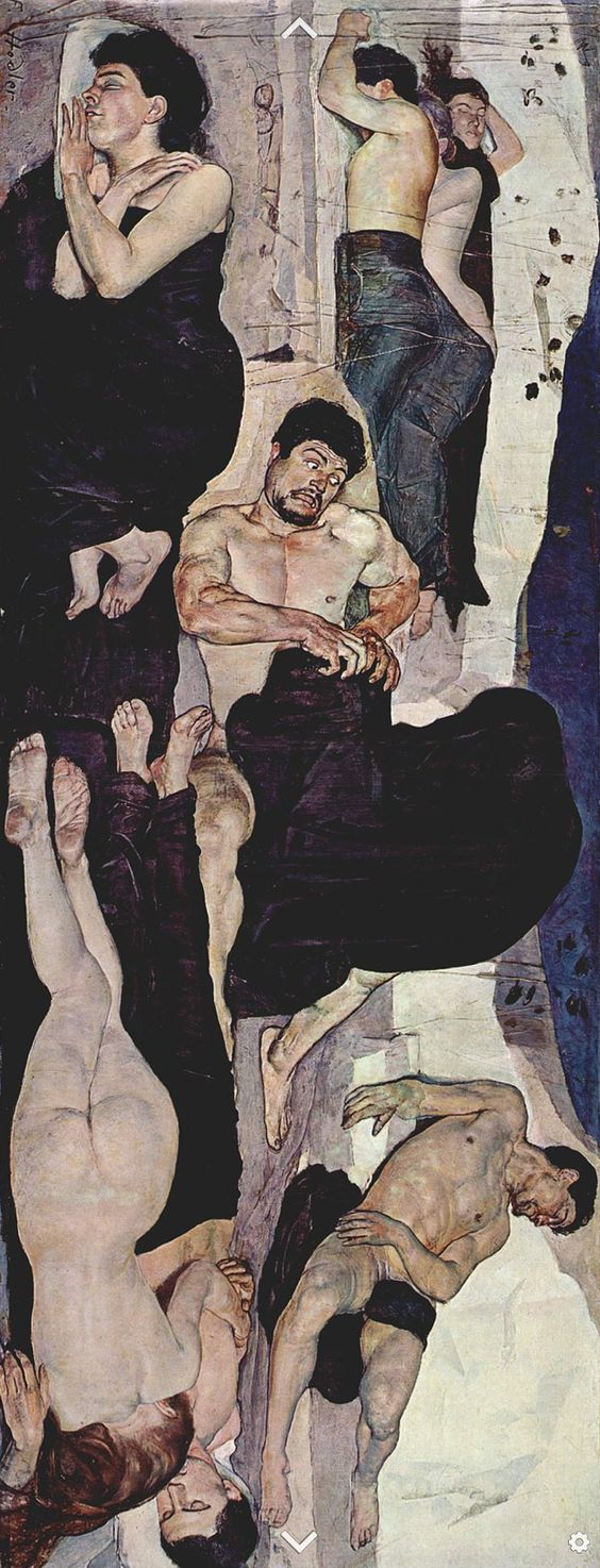 Ferdinand Hodler (1853 -1918), 1889-90, Night, oil on canvas, Berne, Kunstmuseum.