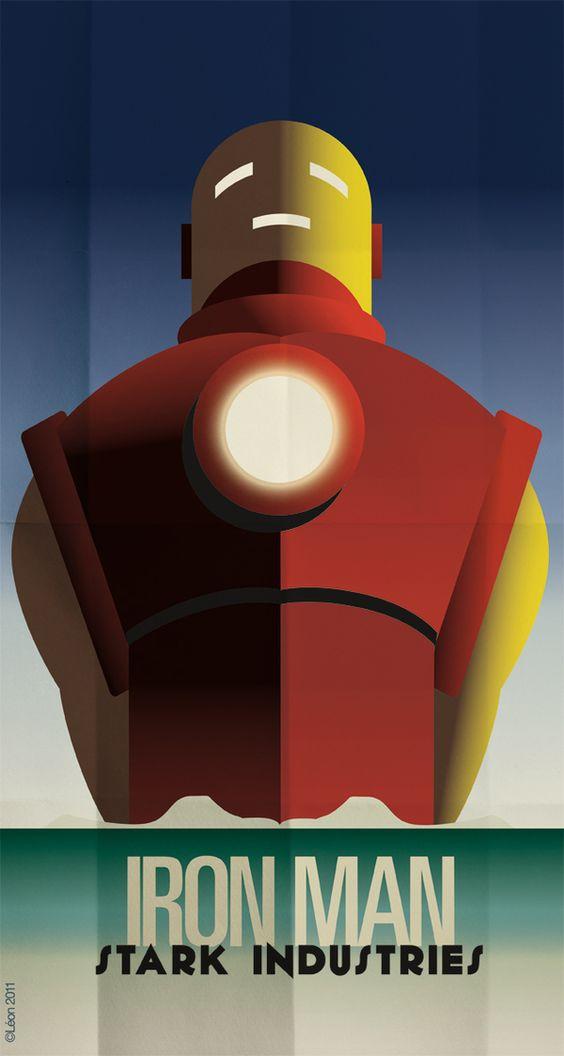 Affiches de super héros façon Art déco affiche super hero art deco 01 geek design bonus