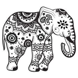A religious Buddhism elephant