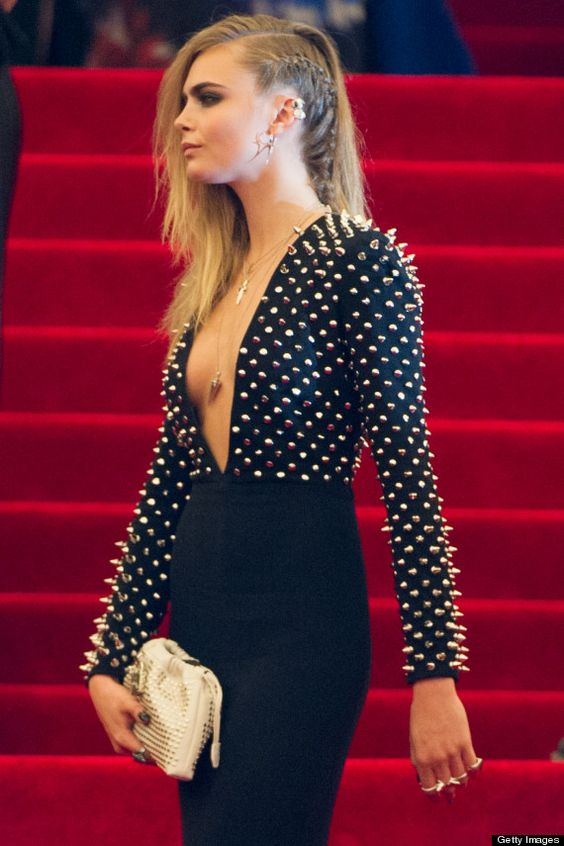 Studded Dress - Cara Delevingne at the MET Ball 2013