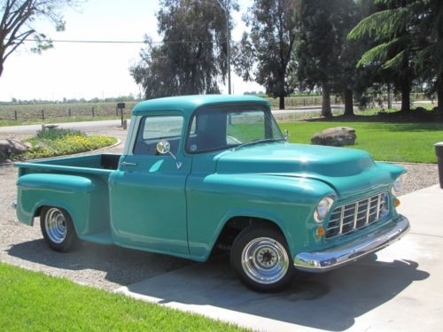 1956 Chevrolet C K Pickup 1500 Two Tone Turquoise And White Truck