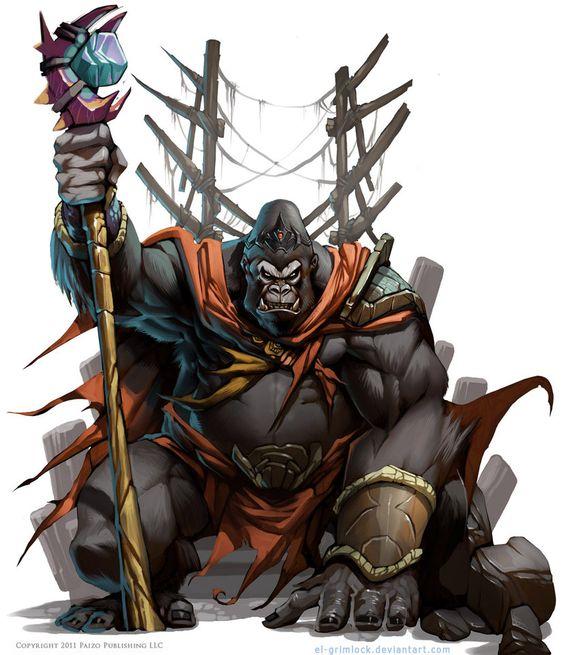 Otro Pathfinder, La primera, recién adaptándome a su estilo más clasico rol 90s. De chico mi primer hèroe fue...centella? mazinger? no... King Kong es un muñeco....donde estará ese rajado juguete a...