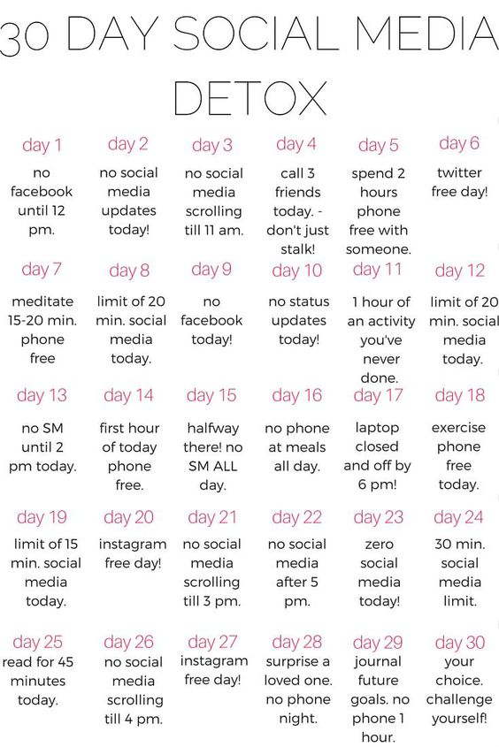 Why you should do a 30 day social media detox kalein it for Minimalist living 100 things list