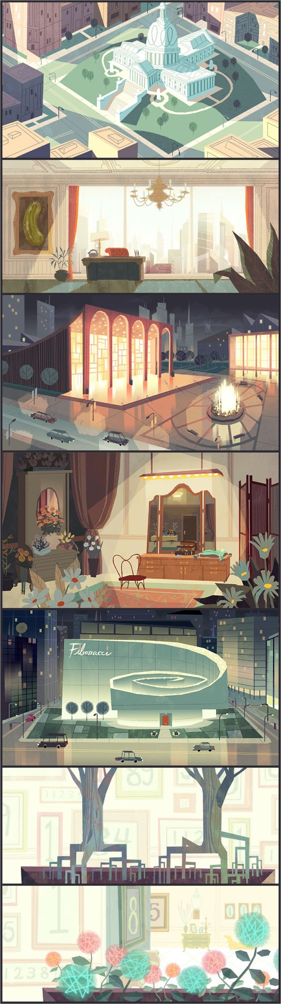 Some location backgrounds for the Powerpuff Girls Danced Pantsed Special on Cartoon Network!