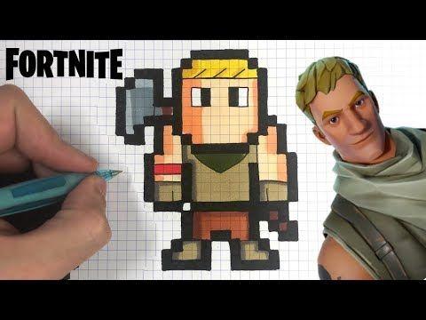 Chadessin Pixel Art Fortnite Youtube Pixel Art Pixel Art Games Pixel Art Design