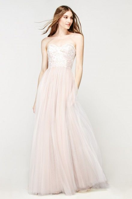Willowby Dress Rorain - Watters & Watters - sweetheart neckline - tulle - pink wedding gown