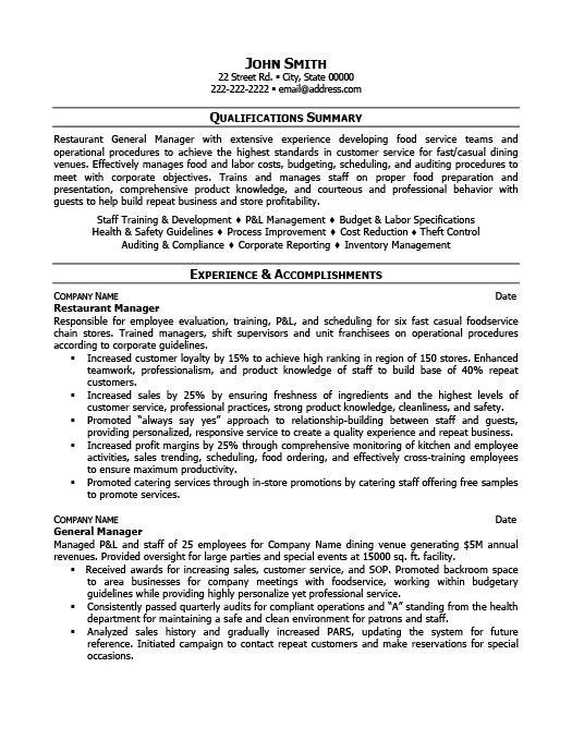 General Manager Resume Template Premium Resume Samples Example In 2020 Project Manager Resume Manager Resume Restaurant Management