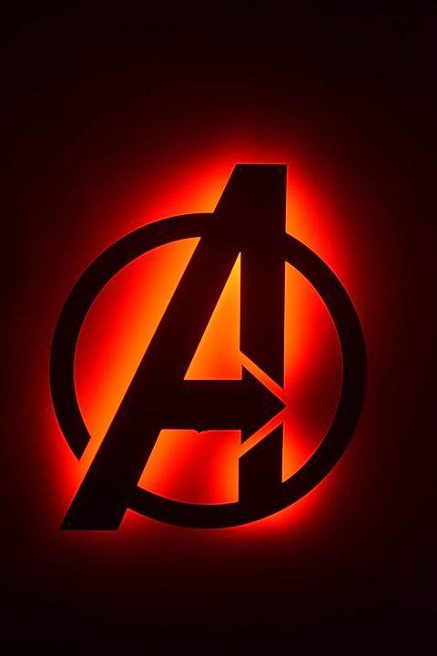 Avengers Logo Back Lit Floating Metal Wall Art Super Metals Avengers Painting Avengers Logo Avengers Poster Art
