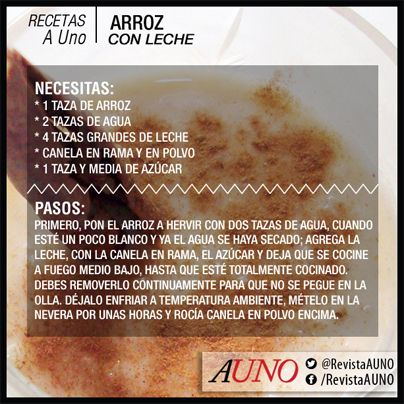Receta venezolana: Arroz con leche #Venezuela #Receta #RevistaAUno