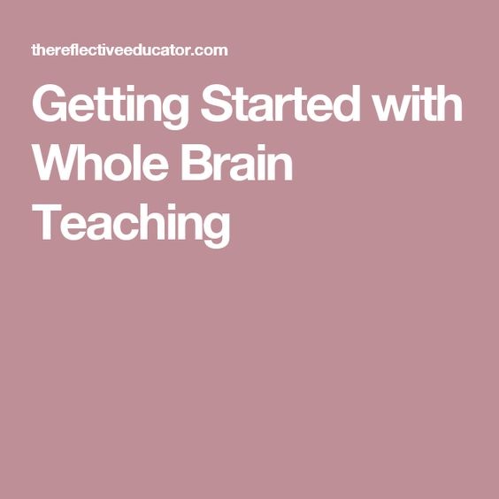 Getting Started with Whole Brain Teaching