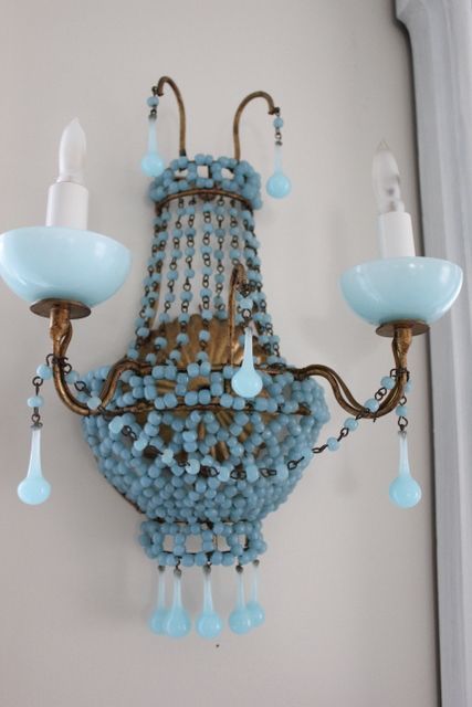 aquamarine opaline sconce....wow!