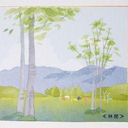 画像 和紙ちぎり絵教室で作成しました 林間 の記事より 和紙 絵 夏