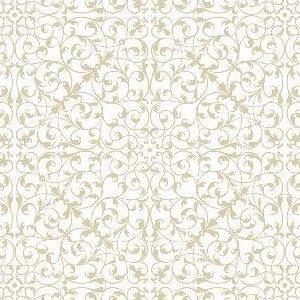 """""""Ramalhetes"""" dupla faixa com raminhos geométricos - branco (estampa digital)"""