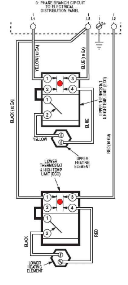 17 3 Phase Electric Water Heater Wiring Diagram Electric Water Heater Water Heater Heating Thermostat