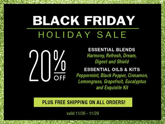 Save 20% on essential oils from Spark Naturals thru 11/29.