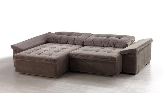 Atlanta m veis sof sofisticatto 02 lugares chaise for Sofa 02 lugares