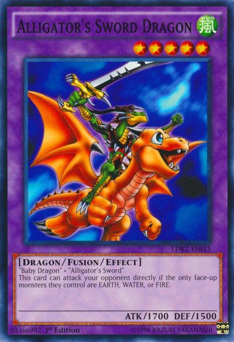 Alligator S Sword Dragon Yugioh Dragons Baby Dragon Dragon