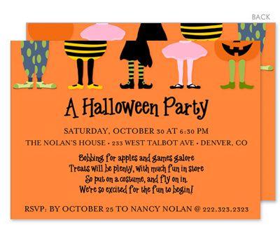 Halloween Costume Party Invitations