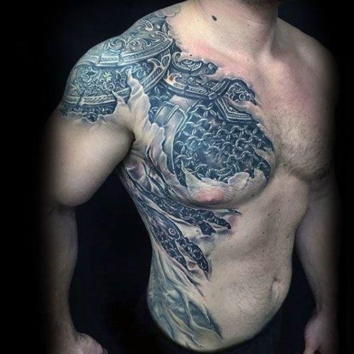 101 Best Shoulder Tattoos For Men Cool Designs Ideas 2019 Guide Cool Shoulder Tattoos Shoulder Armor Tattoo Front Shoulder Tattoos