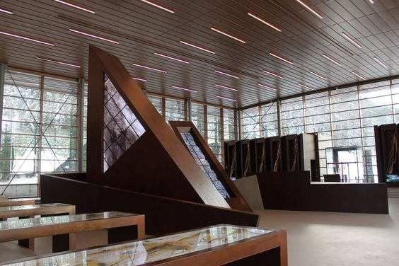 Plessi Museum;  For the museum area were used surface-mounted OVVIO LED, fully customized to integrate with the materials of the structure.  http://www.esse-ci.com/en/ovvio-led_400