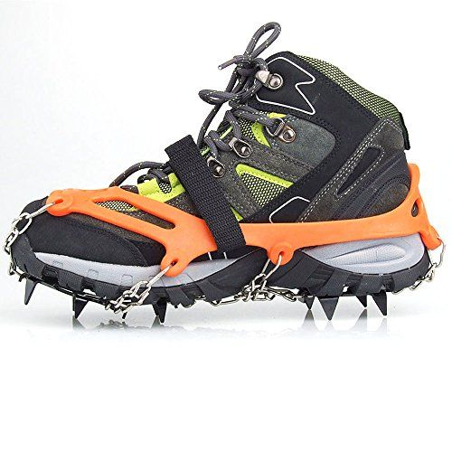14 Teeth Ice Gripper Non Slip Climbing Crampons Cleats Shoe Cover Snow Spikes