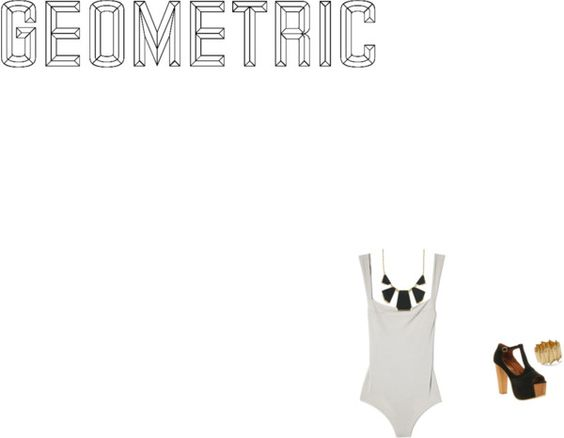 """""""Geometric"""" by undiscovere-d ❤ liked on Polyvore"""