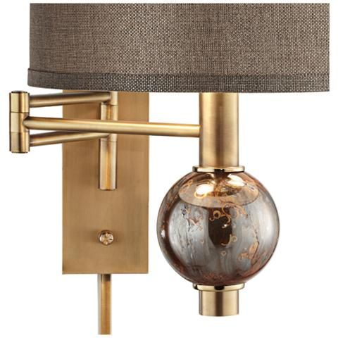 Richford Brass Plug In Swing Arm Wall Lamp With Dimmer 1r145 Lamps Plus