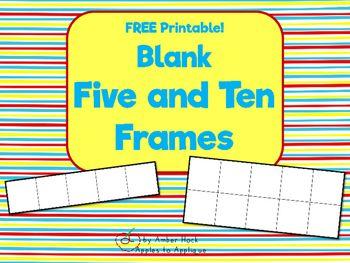 Blank Five and Ten Frame Printable   School   Pinterest