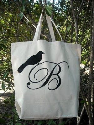 Great way to embellish a canvas bag!