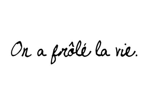 On a frôlé la vie. #vie