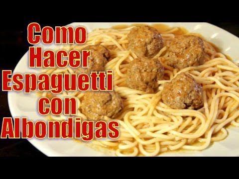 Espaguetti con Albondigas | Casayfamiliatv ** Casayfamiliatv.com