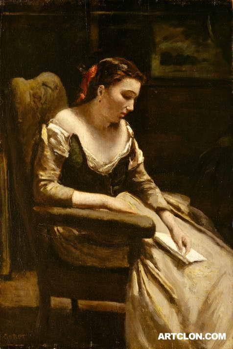The Letter ca 1865  Met Museum of New York  Jean Baptiste Camille Corot