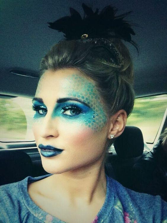 mermaid ideas for halloween, mermaid makeup | Creative eye makeup ...